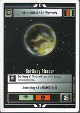 STAR TREK CCG WHITE BORDER PREMIERE 1995 BETA RARE CARD SARTHONG PLUNDER