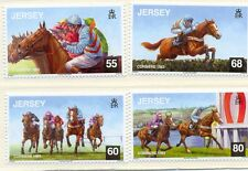 Jersey-Racehorse Corbiere new issue set of 4 mnh-2013
