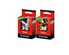 LEXMARK NO 36 BLACK AND 37 COLOUR CARTRIDGE FOR X4630