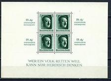 Germany WW2 Hitler Souvenir Sheet 1937 B104 MLH