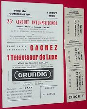 RARE PROGRAMME DEDICACES CYCLISME COMMENTRY 1969 GIMONDI HOBAN THEILLIERE LETORT
