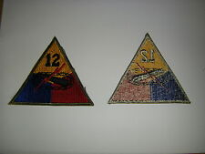 b0598-12th WW2 US Army 12th Armored Division patch Speed is the pass word