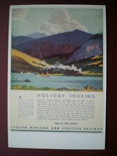 POSTCARD ADVERT STAY AT LMS HOTELS - HOLIDAY TOURING
