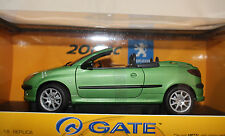 Gate 01273 Peugeot 206 CC Convertible Green With Workable Roof 1:18 New