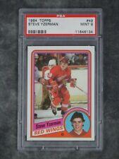 PSA 9 STEVE YZERMAN ROOKIE 1984 TOPPS MINT 1984-85 DETROIT RED WINGS CARD #49