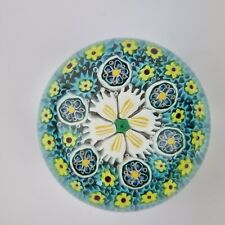 More details for vintage murano glass millefiori cane paperweight