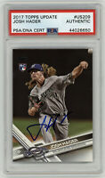 2017 BREWERS Josh Hader signed ROOKIE card Topps Update #US209 PSA/DNA AUTO RC