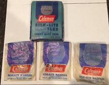 Vtg Coleman Silk Lite Lantern Mantles Grade A Heavy Duty w Original Box parts