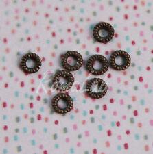 50 RONDELLE SEPARATORI color bronzo SPACER 4 MM PERLINE IN METALLO anellini