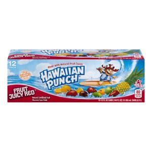 Hawaiian Punch Fruit Juicy Red 12-12fl oz cans(144 oz)