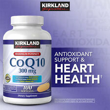 Kirkland Signature CoQ10 300 mg 100 softgels Maximum Potency