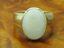 14kt 585 Gelbgold Ring mit 8,00ct Opal Besatz / 8,6g / RG 57,5