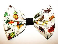 NEW FABRIC HAIR BOW W/Alligator Clip * Insects Bugs * Handmade*FREE SHIPPING USA