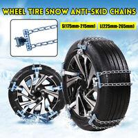 Rad Reifen Schnee Anti-rutsch Ketten Stahl Auto Lkw SUV Notfall Winter