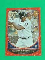 Austin Wilson Rookie Seattle Mariners 2013 Bowman Draft Red Ice 19/25