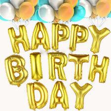 "13Pcs Letter Foil Balloons ""HAPPY BIRTHDAY"" Party Birthday Children Gift Decor"