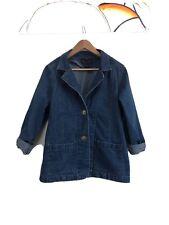 Vintage Denim Chore Jacket Southwest Buttons Large Cotton Barn Coat