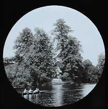 c1890s Magic Lantern Slide Photo View On The River Thames Ankerwyke Rowing