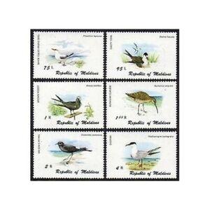 Maldives 861-866,867,MNH.Mi 883-888,Bl.67. 1980.Tropic bird,Tern,Noddy,Curlew,