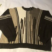 VTG 90's Protege Collection Coogi Style Sweater Multicolor Men's 3XL