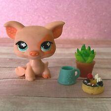 100% AUTHENTIC Littlest Pet Shop LPS #622 Pink Pig w Accessories