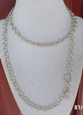 """JUDITH RIPKA STERLING SILVER VERONA CIRCLE LINK CHAIN NECKLACE 36""""  ITALY 29.1g"""