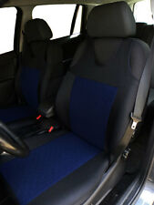 2 BLUE FRONT CAR SEAT COVERS WITH DOTS FOR AUDI A6 C7