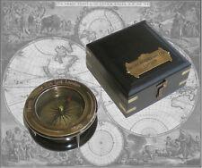 Kompass Peilkompass aus Messing mit intergrierter Lupe in edler Holzbox (6)