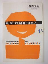 A Severed Head, Criterion Theatre 1963 (Robert Hardy, Paul Eddington, Priestley)