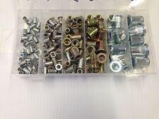 140 PEZZI ASSORTITI BOX Metric Nutserts Rivnuts 4mm,5 mm,6 mm,8 mm,10 mm e 12mm