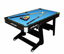 Riley FP5B 5ft Folding Pool Table Little With Extras