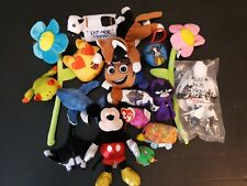 Toy Plush Pets TY Mickey Mouse Sparkle Flowers Whale Cat Sting Ray Teen Titans