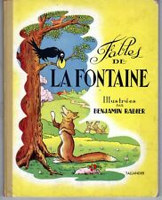 LES FABLES DE LA FONTAINE ILLUSTRATIONS BENJAMIN RABIER 1953