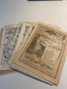 Watchtower Assorted Magazines 1915 - 1936