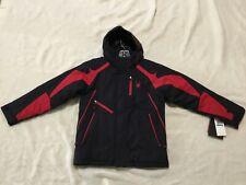 SPYDER KIDS JACKET LEADER BLACK RED SIZES 10 14 16