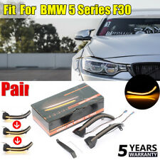 2x Dynamic Side Mirror Turn Signal LED Indicator Light For BMW F30 Smoked NEW UK