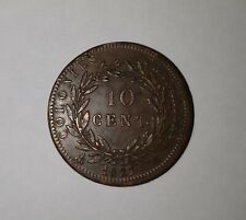 10 CENT (Centimes)  Charles X 1827 H