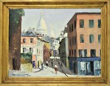AUGUSTO GOMES MARTINS (PORTUGUESE, 1922-1994) OIL ON BOARD PARIS STREET SCENE