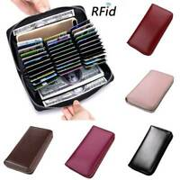 RFID Antimagnetic Genuine Leather 36Card Slots Card Holder Long Wallet Purse Bag