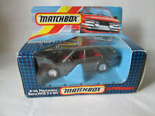 1987 Matchbox SuperKings Metallic Charcoal Mercedes-Benz 190E 2-3-16V Car K-115