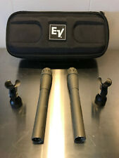 PAIR (2) EV Electro Voice CS15E microphone - with stand clip and carrying case!