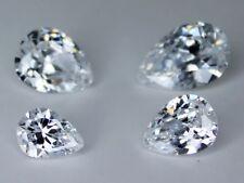 CZ Pear Colorless 6x8mm 7x9mm 8x10mm 8x12mm Loose AAA Cubic Zirconia Gemstone