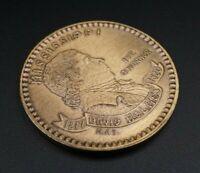 1967 Henry Alvin Sharpe MISSISSIPPI SESQUICENTENNIAL Bronze Medal Coin 39mm M822
