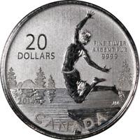 2014 Canada Silver $20 - Summer Fun - .9999 Fine 7.96 Grams - OGP
