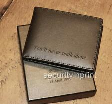 Liverpool Hillsborough Slim RFID-Blocking Bi-fold Black Leather Wallet - Boxed