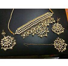 Traditional Kundan Pearl drops  Choker ceremonial   Jewellery Set