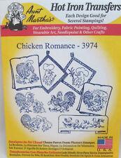 Aunt Martha's Hot Iron On Transfers - Chicken Romance #3974