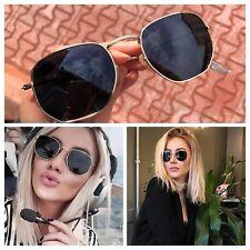 AYZA Round Rund Metal Sonnenbrille Fashion Damen So Hot Real Schwarzsilber