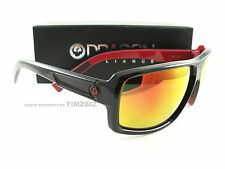 New Dragon Alliance Sunglasses Double Dos Jet Red Ion Authentic