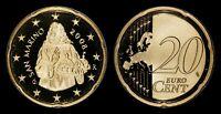SAN MARINO 20 EURO CENTS 2008-R (GEM PROOF) *PREMIUM QUALITY*
